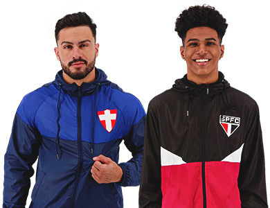 Tá com saudade do futebol, né? A gente também! Por isso lançamos essa promo: Jaquetas Corta Vento a partir de R$ 159,90. As melhores opções pra você escolher e manter aquecido a sua paixão pelo esporte. E aí, tá esperando o que? Aproveite!