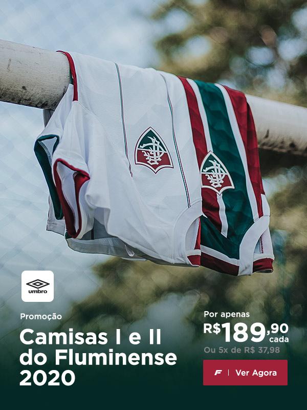 Oferta: Camisas I e II Umbro 2020 do Fluminense por apenas R$ 189.90. Aproveite!